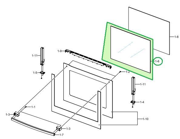 Modne ubrania DG64-00136B szyba piekarnika środkowa GLASS-DOOR MIDDLE;CLASSIC2 WS86
